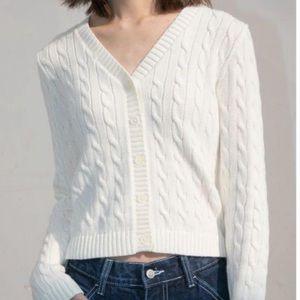 Brandy melville Elizabeth sweater (cream knit)